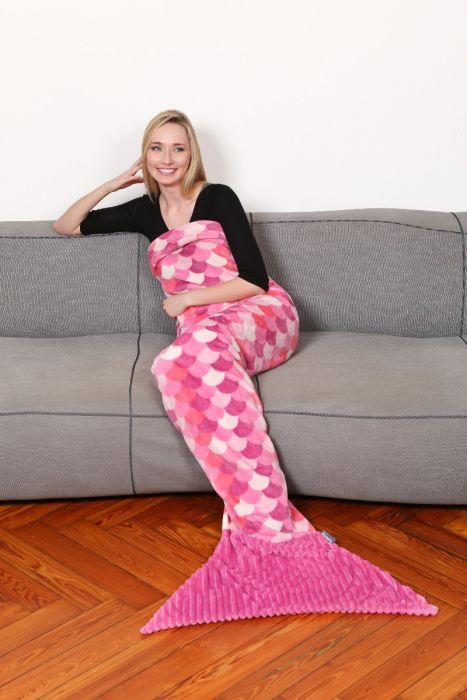 KANGURU Sirena Lilla Blanket