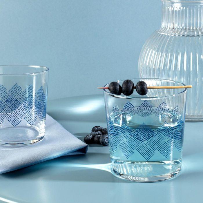 Madame Coco Pierretta Blue Rugs Set of 4 Water Glasses