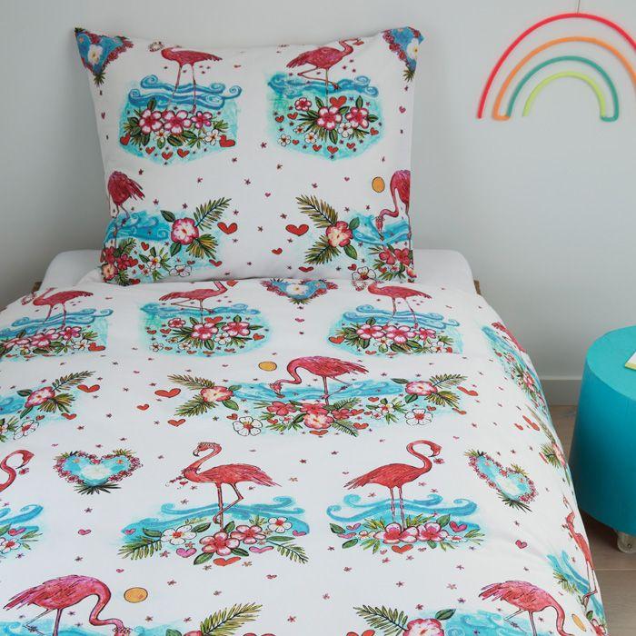 Beddinghouse Duvet cover 2pcs 100% cotton Flamingo