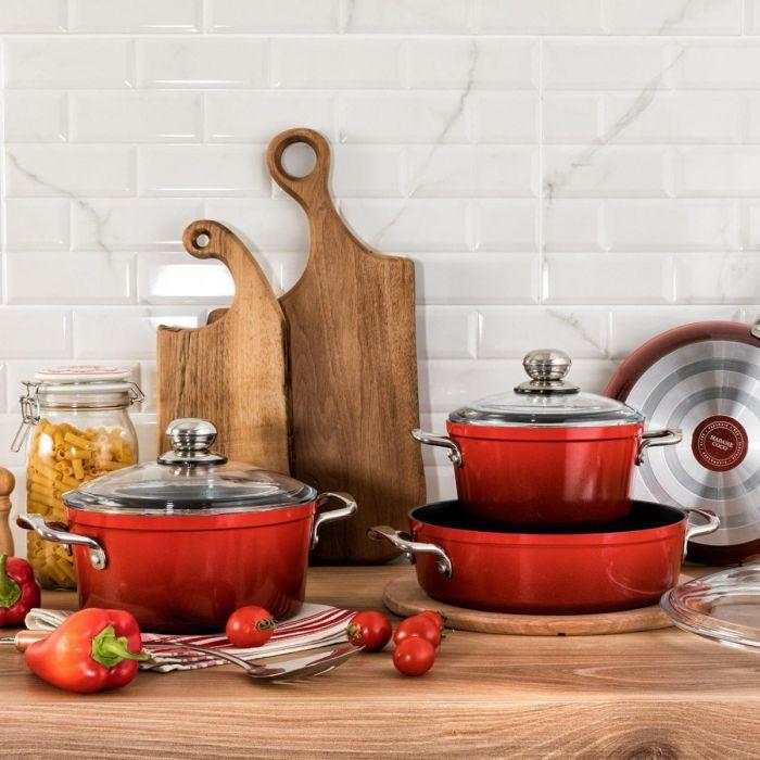 Pro Granite Look Cookware Set 7 Piece