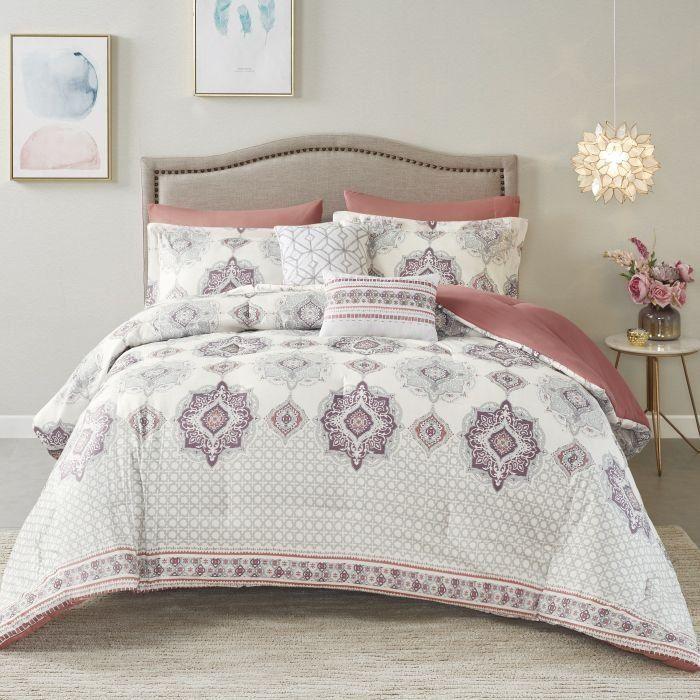 Nova Sicily Comforter Set Purple