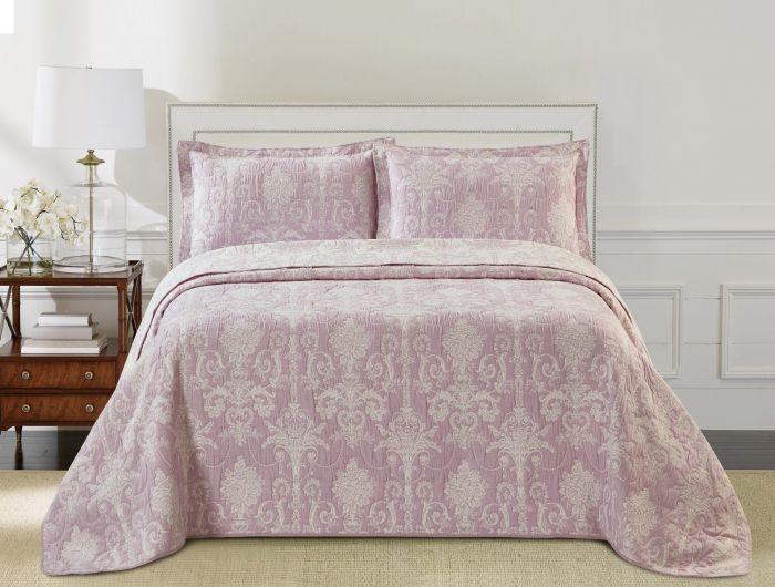 Nova Samantha Jacquard Bedspread Set Pink