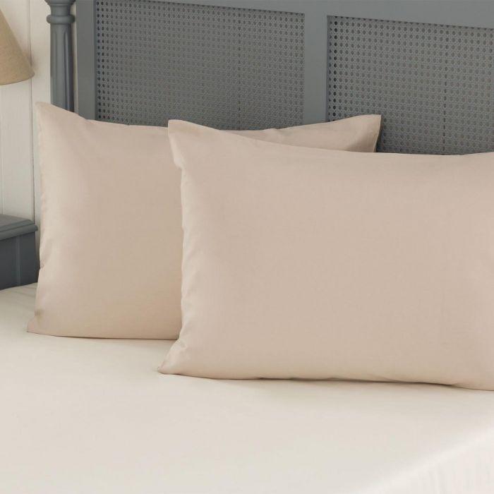 Madame Coco Manon Ranforce 2-Piece Pillowcase - Stone