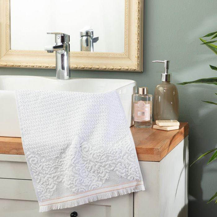 Madame Coco Gaufre Jacquard Hand Towel