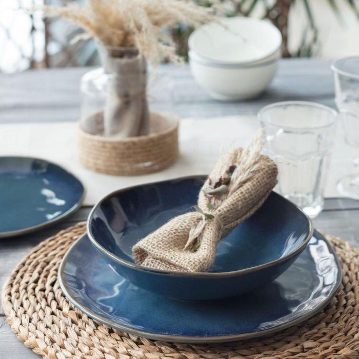 Madame Coco Bleu Infini 6-Piece Dinner Set - Blue