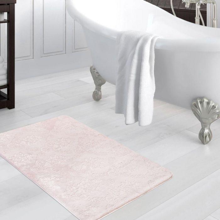 Madame Coco Emboss Bath Mat - Powder - 70x110 cm