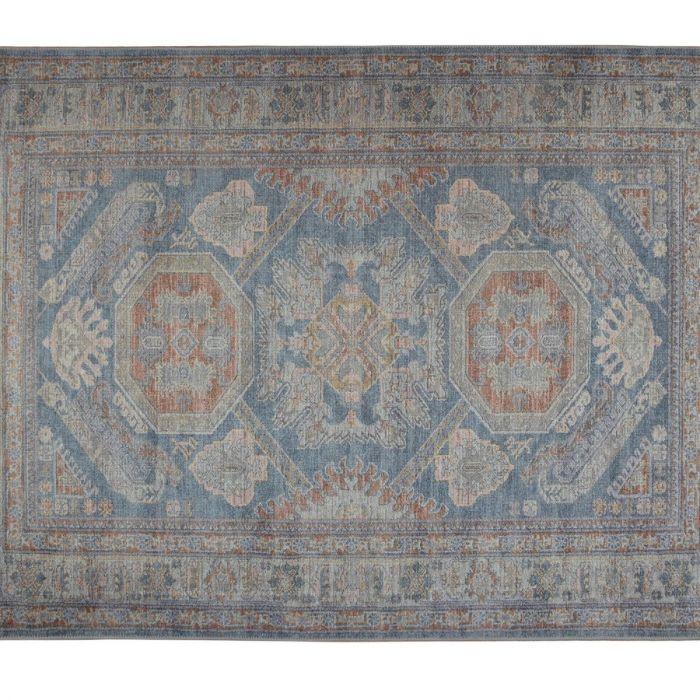 Madame Coco Alhertine Digital Printed Carpet - Blue