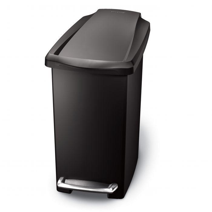Simplehuman Slim Plastic Bin Basket 25L Black