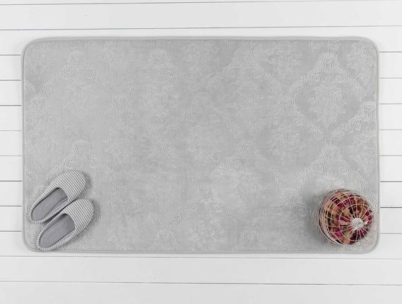 Madame Coco Emboss Bath Mat - Grey
