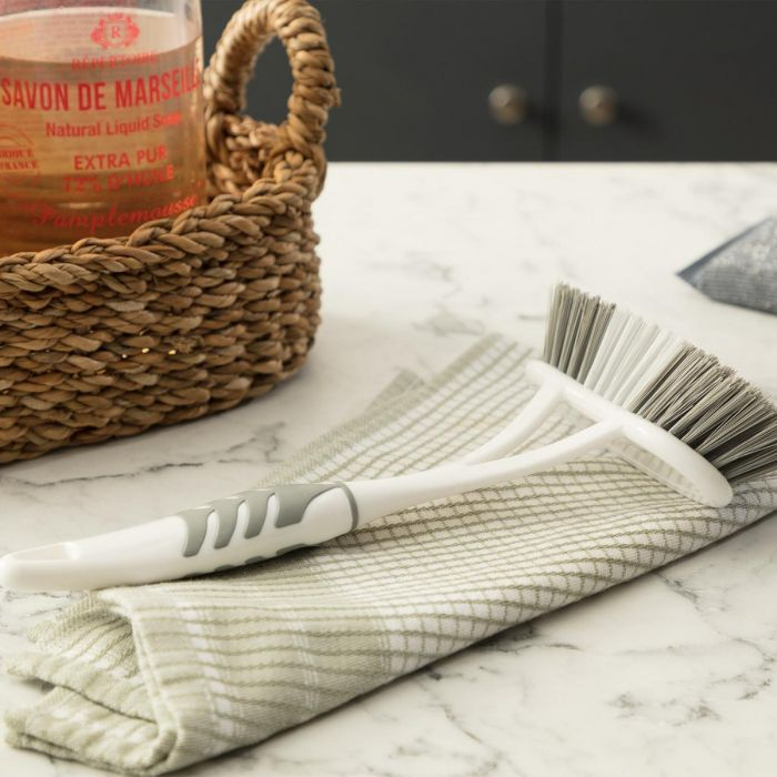 Madame Coco Graque Sink and Bathtub Brush - White / Grey