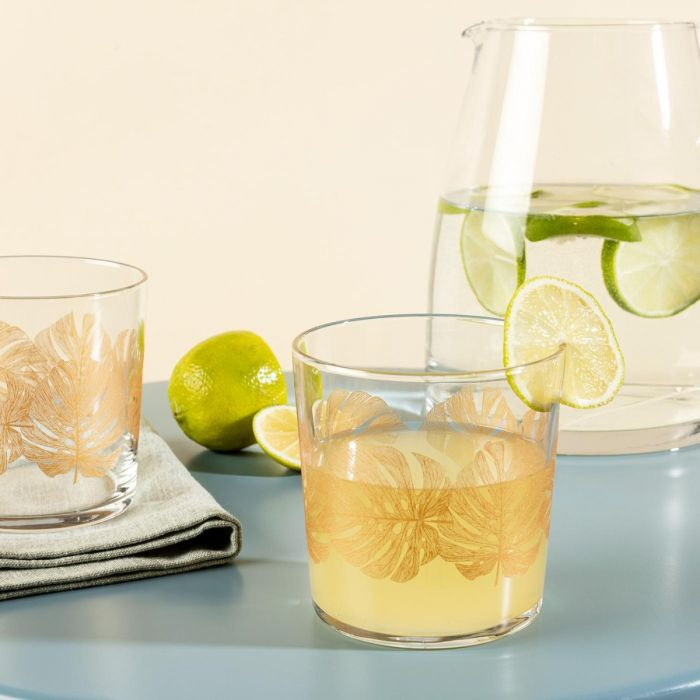 Madame Coco Pierretta-Golden Leaves Set of 4 Water Glasses