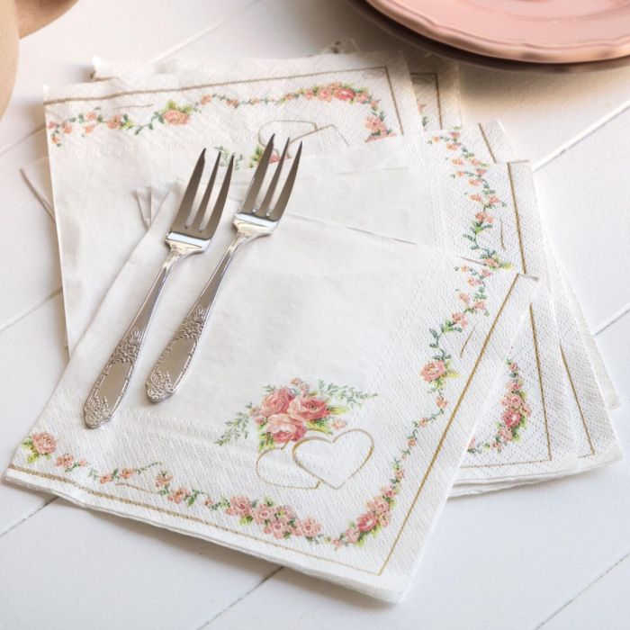 Madame Coco Heart Patterned Napkin