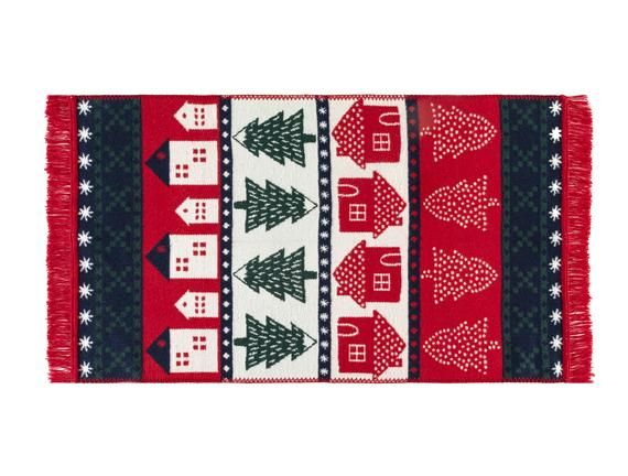 Madame Coco Leal Fringed Woven Rug - Red