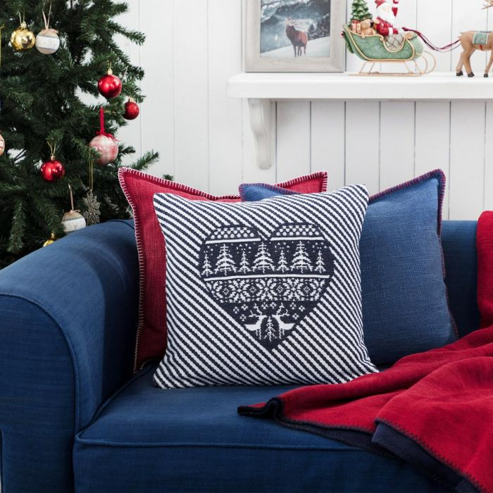 Madame Coco Remy Throw Pillow Cover - Navy Blue