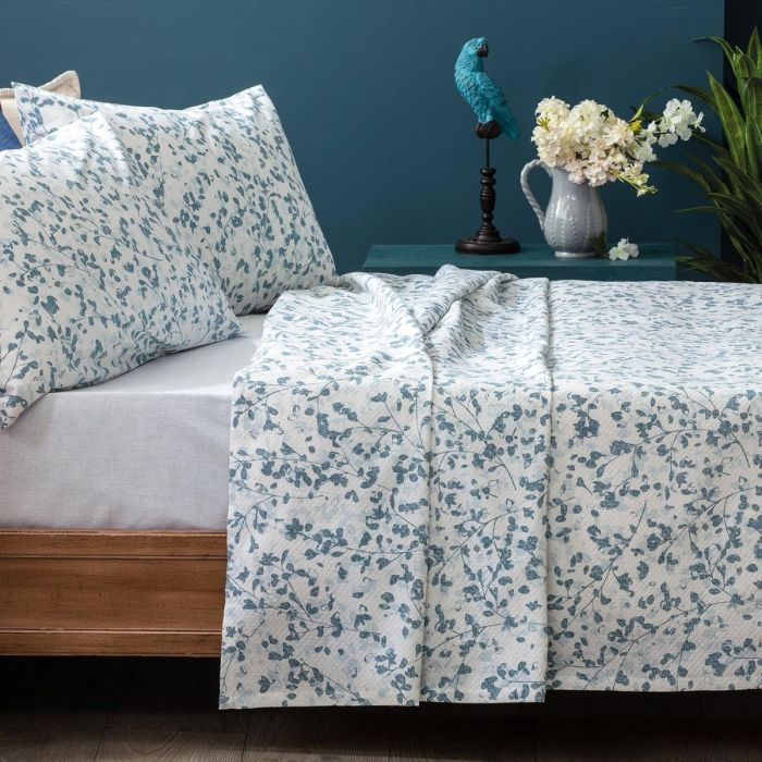 Madame Coco Brantes Double-Size Printed Coverlet Set