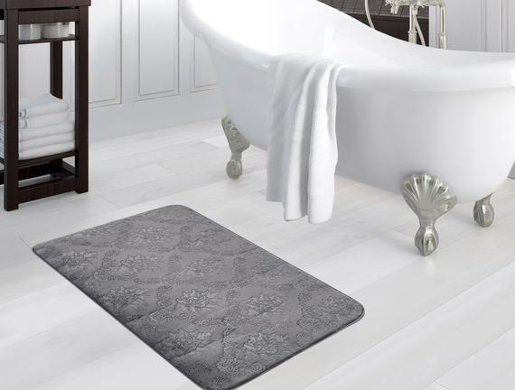 Madame Coco Emboss Bath Mat - Anthracite
