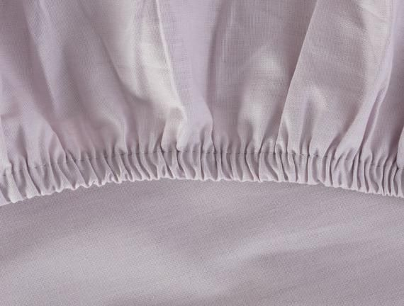 Madame coco Manon Ranforce King Size Fitted Sheet Light Damson