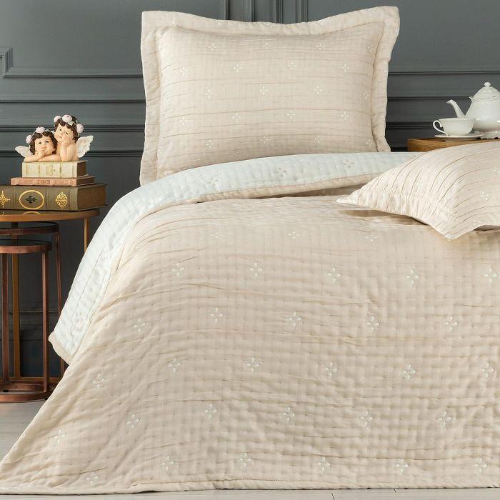 Madame Coco Louvain Single Bedspread - Beige