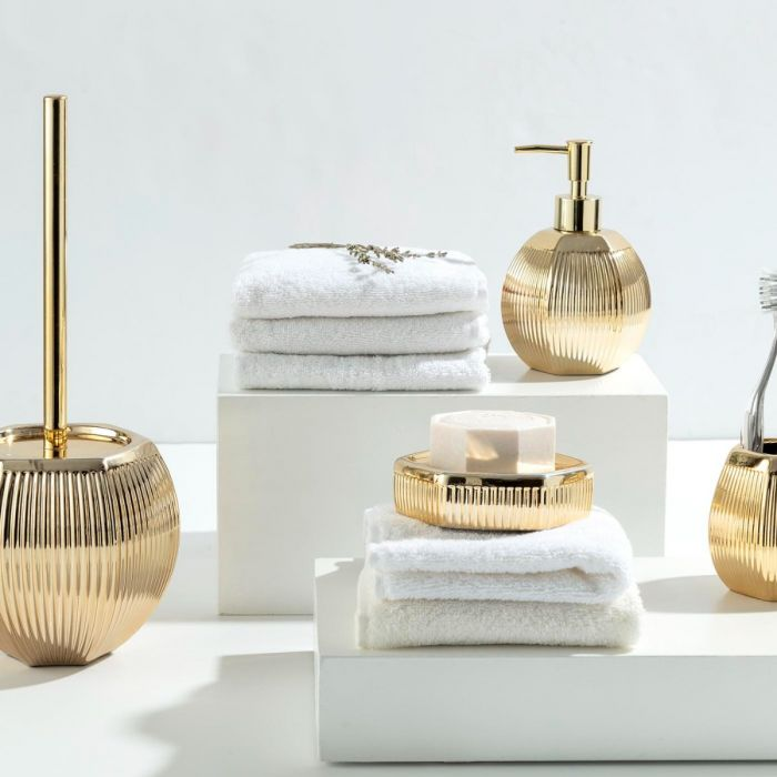Madame Coco Bonar 4 Piece Bath Set - Gold