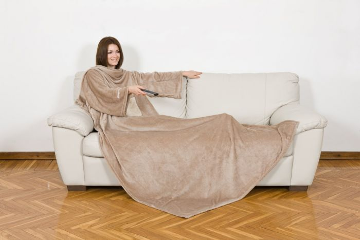 KANGURU Cream Sleeves Blanket