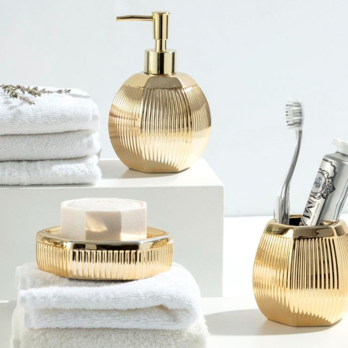 Madame Coco Bonar 3 Piece Bath Set - Gold