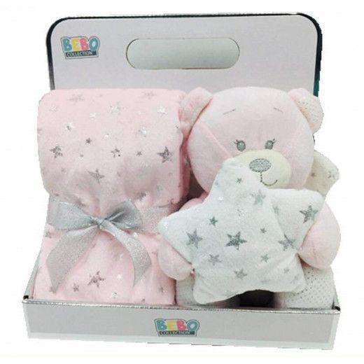 NOVA Toy W Blanket Angle 75x75CM Pink