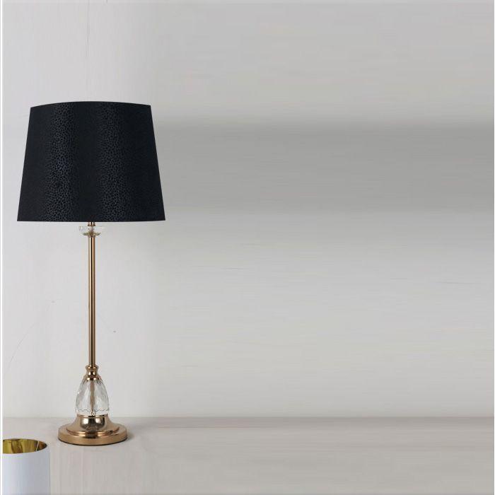 NOVA Table Lamp Cristy 77CM Black