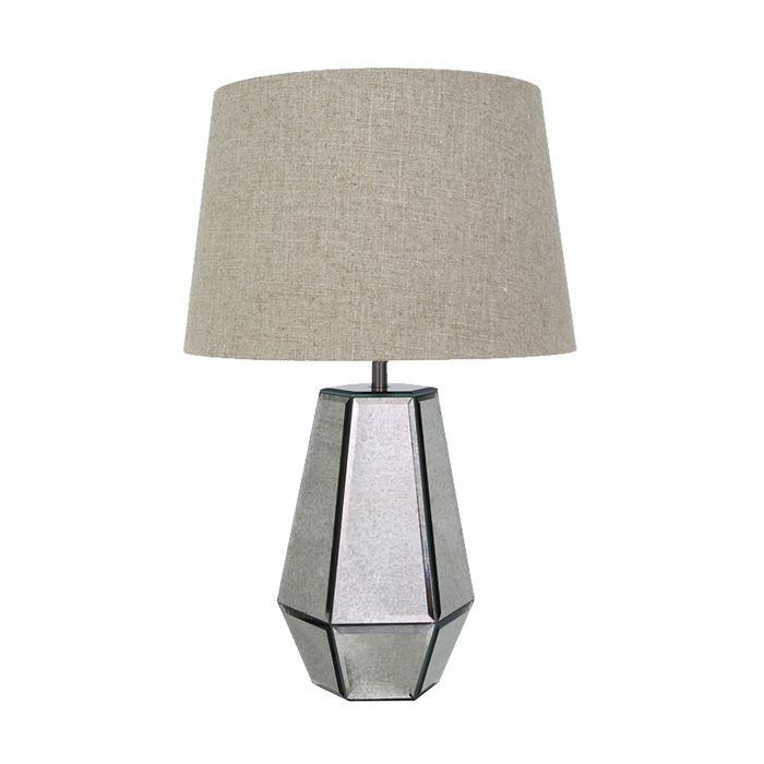 NOVA Table Lamp Mirror 58CM Beige