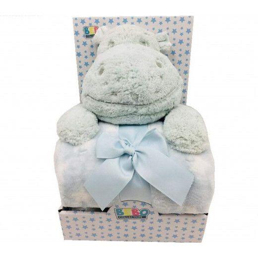 NOVA Toy W Blanket Hippo 75x100CM Mint