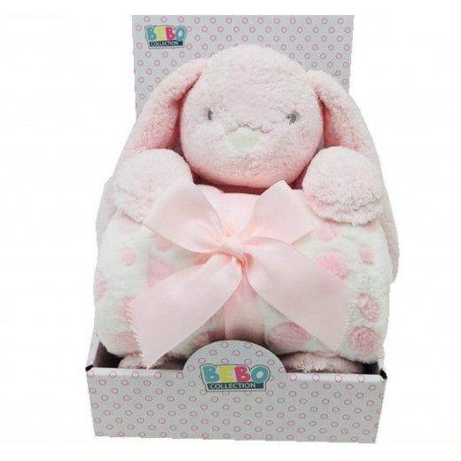 NOVA Toy W/ Blanket Rabbit 75x100CM Pink