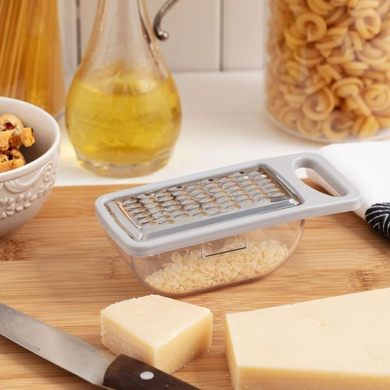 Daily Garlic and Cheese Grater with Container