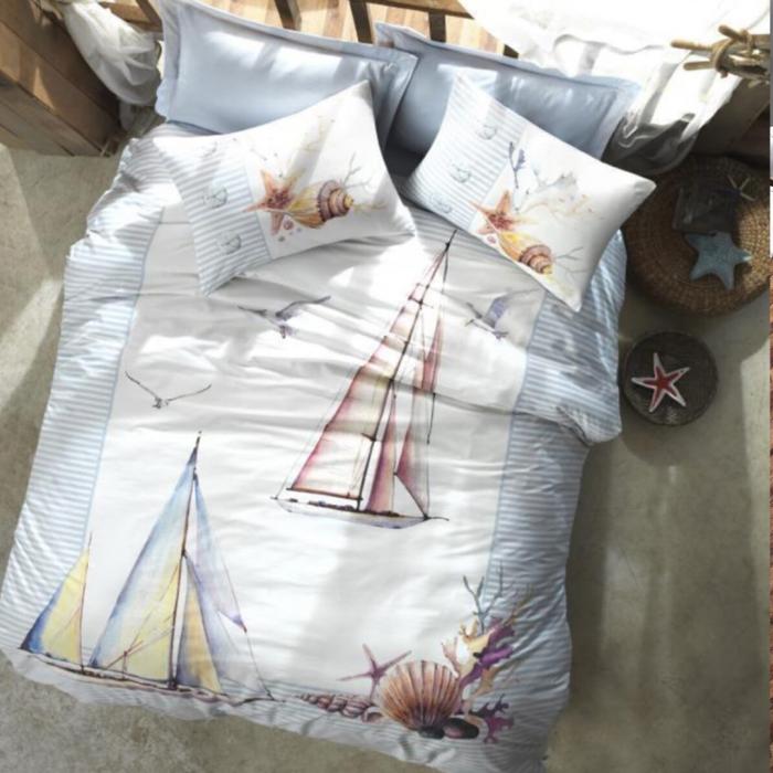 Nova Yacht Cotton Duvet Cover 3Pcs Set