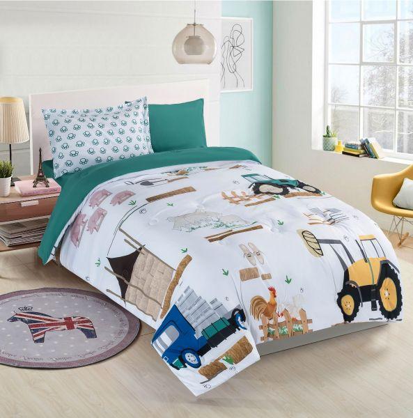 Nova Little Farmer Baby Comforter Set, Full Size Bedding For Toddler Boy