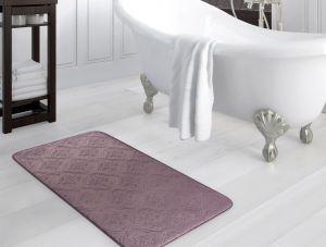 Madame Coco Emboss Bath Mat - Dark Plum