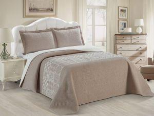 Nova Austin Jacquard Bedspread Set Brown