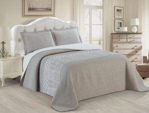 Nova Austin Jacquard Bedspread Set Grey