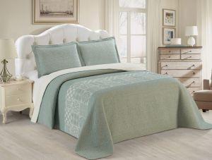 Nova Austin Jacquard Bedspread Set Green