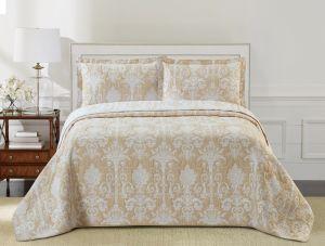 Nova Samantha Jacquard Bedspread Set Beige