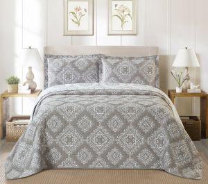 Nova Amberley Jacquard Bedspread Set Grey