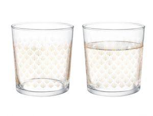 Madam coco pierretta-Golden Rain Set of 4 Water Glasses 380 ml