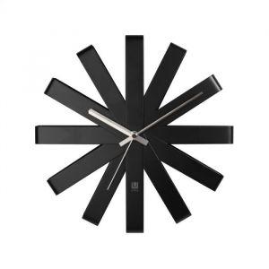 Umbra Ribbon Wall Clock 4x6 Black