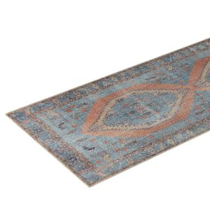 Madame Coco Somer Digital Printed Carpet - Blue
