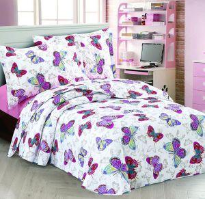 Nova Butterfly Bedspread Set