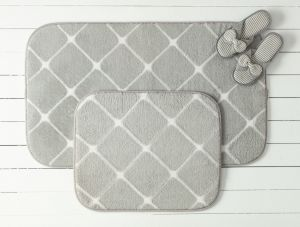 Madame coco aimee 2-Piece Bathmat - Grey