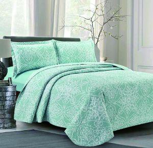 Nova Piccadilly Green Bedspread Set